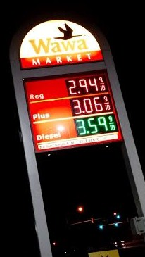 Wawa gas price Frederick, MD. 10-26-14