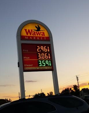 Wawa gas price Frederick, MD. 10-25-14