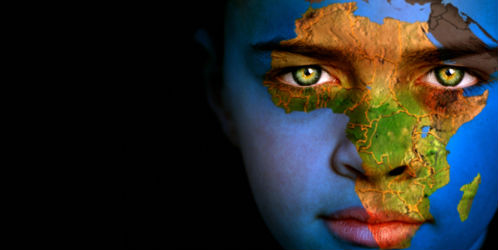 Africa-map-on-face