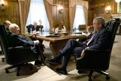 Meeting between President Bush and Mormon church elders