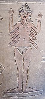 One type of depiction of Ishtar/Inanna