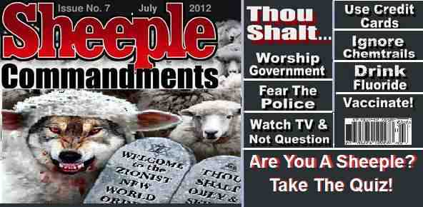 Rise Of The American Sheeple 10 Signs You Re A Sheeple