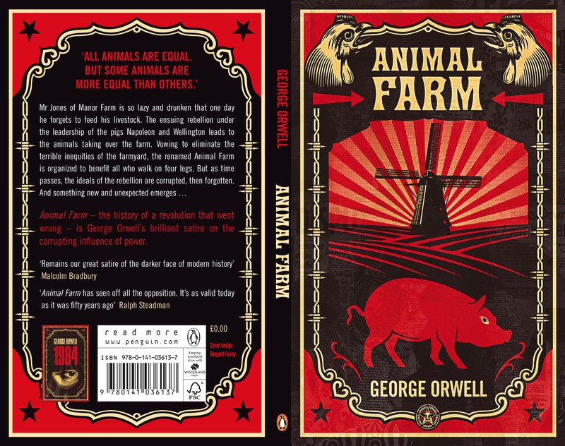 an analysis of allegorical satire in animal farm a novel by george orwell The animal farm, by george orwell  satire, is displayed throughout the book this satirical allegory fable is a very effective way for people to understand.