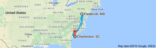 distance-charlstn-sc-to-fred-md