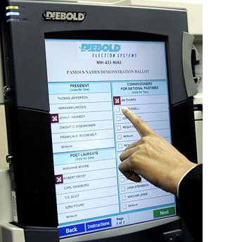 electronic voting machines contain insecure flaws